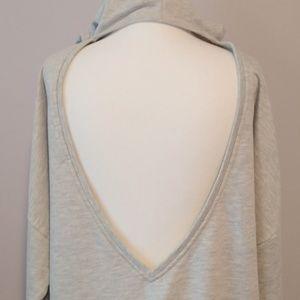 Honey Punch Tops - Honey Punch Cutout Hoodie Sweatshirt Small